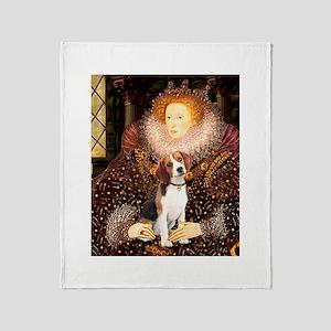 Queen / Beagle (#1) Throw Blanket