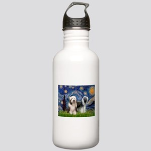Starry / 2 Bearded Collies Stainless Water Bottle