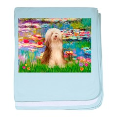 Lilies / Bearded Collie baby blanket