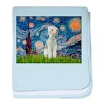 Starry / Bedlington baby blanket