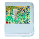 Irises /Bedlington T baby blanket