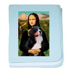 Mona's Bernese Mt. Dog baby blanket