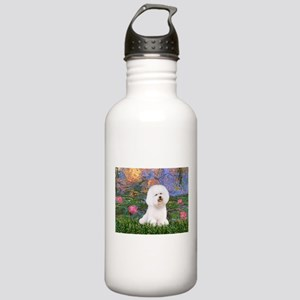 Lilies 4 / Bichon 1 Stainless Water Bottle 1.0L