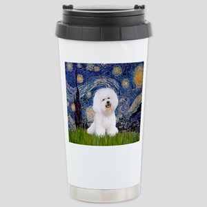 Starry Night Bichon Stainless Steel Travel Mug