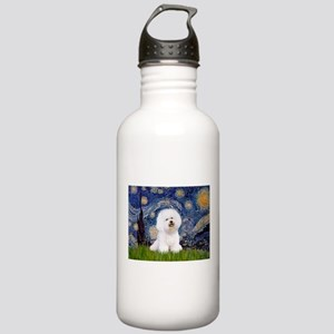 Starry Night Bichon Stainless Water Bottle 1.0L