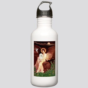 Seated Angel & Bolognese Stainless Water Bottle 1.