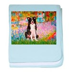Garden & Border Collie baby blanket