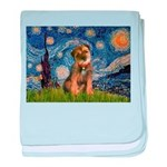 Starry Night / Border Terrier baby blanket