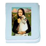 Mona & her Borzoi baby blanket