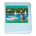 Sailboats & Boxer baby blanket