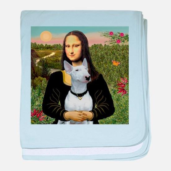 Mona's Bull Terrier baby blanket