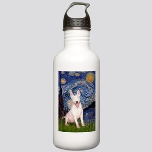 Starry/Bull Terrier (#4) Stainless Water Bottle 1.