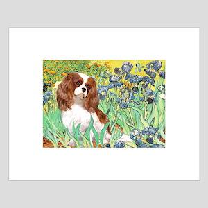 Irises & Cavalier Small Poster