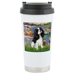 Lilies and Tri Cavalier Stainless Steel Travel Mug