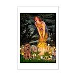 Fairies & Ruby Cavalier Mini Poster Print