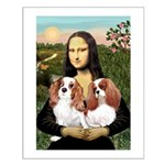 Mona's 2 Cavaliers Small Poster