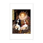 The Queens Cavalier Pair Mini Poster Print