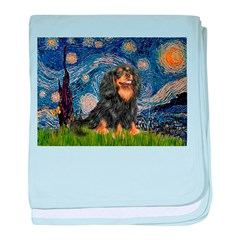 Starry Night Cavalier baby blanket