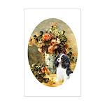 Flowers & Tri Cavalier Mini Poster Print