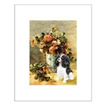 Flowers & Tri Cavalier Small Poster