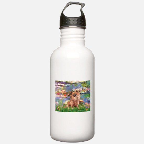 Lilies / Chihuahua (lh) Water Bottle