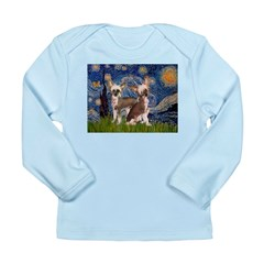Starry Night / 2Chinese Crest Long Sleeve Infant T