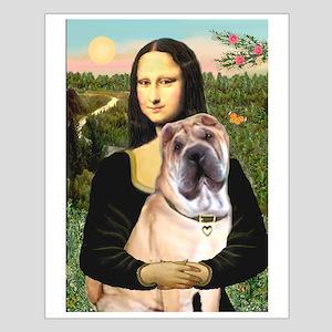 Mona Lisa's Shar Pei (#5) Small Poster
