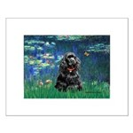 Lilies (5)/Cocker (Blk) Small Poster