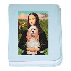 Mona Lisa / Cocker Spaniel baby blanket