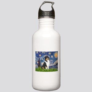 Starry Night / Collie (tri) Stainless Water Bottle