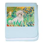 Irises / Coton baby blanket
