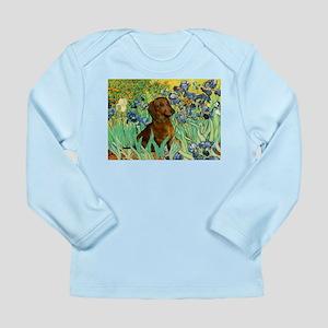 Irises & Dachshund Long Sleeve Infant T-Shirt