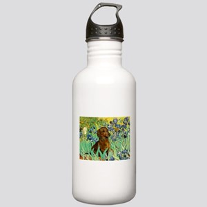 Irises & Dachshund Stainless Water Bottle 1.0L