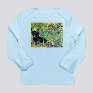 Irises & Dachshund (BT4) Long Sleeve Infant T-Shir