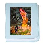 Fairies / Dachshund baby blanket