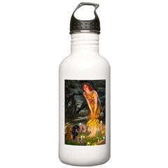 Fairies / Dachshund Water Bottle
