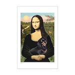 Mona Lisa/Dachshund (BT4) Mini Poster Print