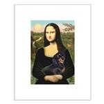 Mona Lisa/Dachshund (BT4) Small Poster