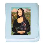 Mona Lisa/Dachshund (BT4) baby blanket