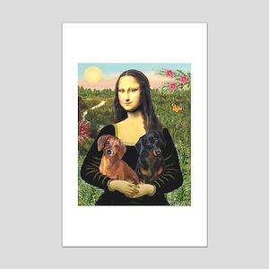 Mona Lisa's Dachshunds Mini Poster Print