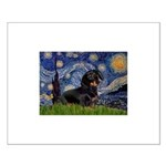 Starry Night Dachshund Small Poster