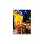 Cafe /Dachshund Mini Poster Print