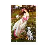 Windflowers / Dalmatian #1 Mini Poster Print