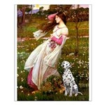 Windflowers / Dalmatian #1 Small Poster