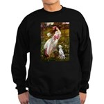 Windflowers / Dalmatian #1 Sweatshirt (dark)