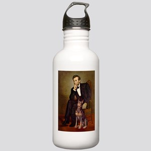 Lincoln's Red Doberman Stainless Water Bottle 1.0L