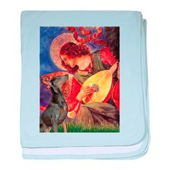 Mandolin Angel & Dobie baby blanket