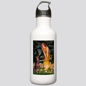 Fairies & Red Doberman Stainless Water Bottle 1.0L