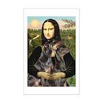 Mona's 2 Dobies Mini Poster Print