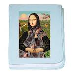Mona's 2 Dobies baby blanket